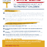 Image from:Fact Sheet: Toxic Lead: PA Lawmakers Must Act to Protect Children - July 2021
